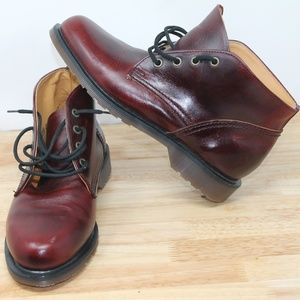 Dr MARTENS Brown Red Leather Boots Chukka Mens 6